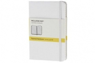 Moleskine notebook pkt squ white hard