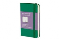 Moleskine notebook xs rul ox green hard
