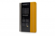 Moleskine professional notebook lg orange yellow