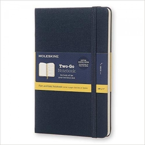 immagine 1 di Moleskine two-go notebook medium ruled-plain saxe blue